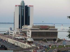 Визначні пам'ятки Одеси, одеський морський вокзал і готель одеса