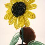 Майстер-клас плетіння соняшника з бісеру