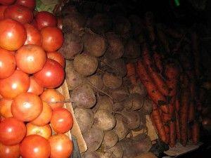 Корисні овочі. Помідор, буряк, морква, цибуля.