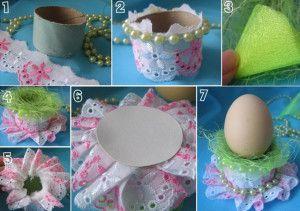 Підставка з мережива під пасхальне яйце