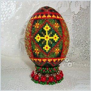 Майстер-клас з плетіння підставки під яйце з бісеру