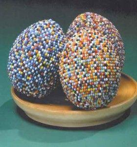 Великодні яйця з бісеру