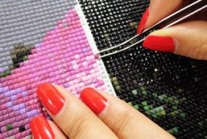 Процес алмазної вишивки