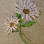 Ромашки з бісеру паралельним плетінням