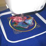 Використовуємо пяльца для вишивки швейною машинкою