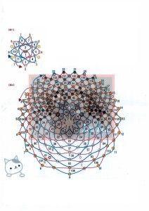 Схема плетіння кошеня з бісеру