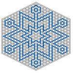 Схема для плетіння сніжинки з бісеру