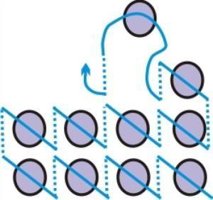схема вишивки бісером вертикальним швом