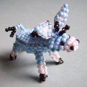 Ослик з бісеру в техніці об'ємного рпрпллельного плетіння