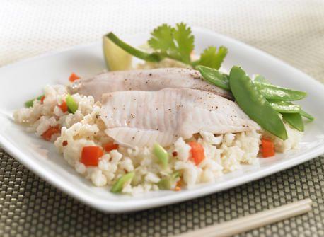 риба з азіатським рисом