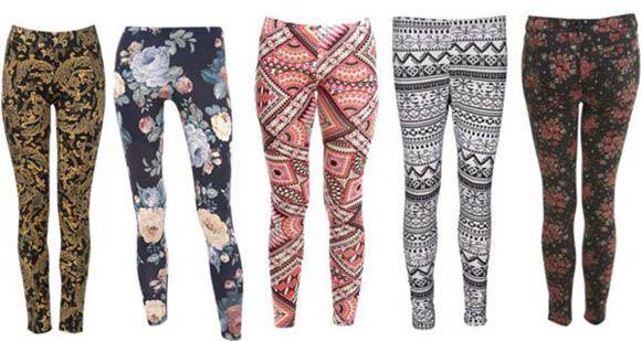 брюки з принтом