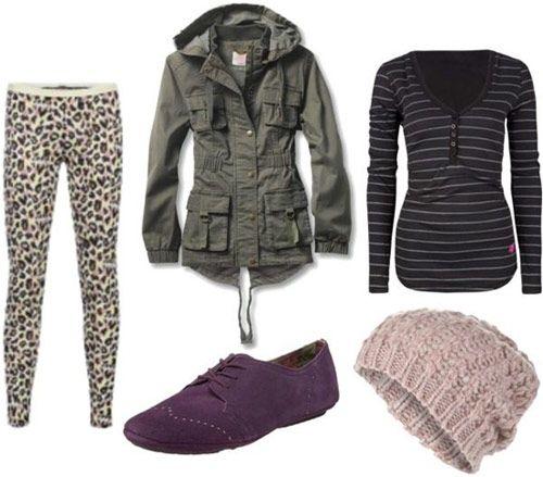 леопардові штани і горизонтальна смужка