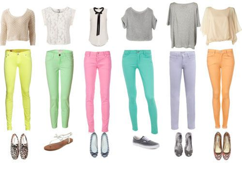 з чим носити пастельні джинси