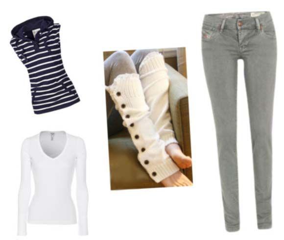 гетри з джинсами
