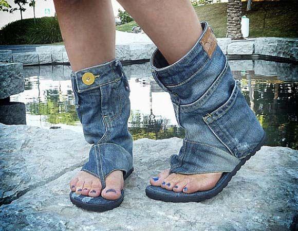 джинсові літні чоботи
