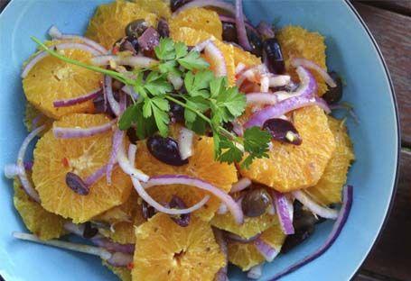 салат з апельсинів