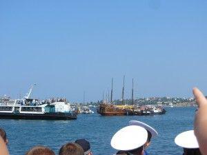 Парад кораблів на день морського флоту.