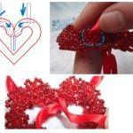 Майстер-клас з плетіння валентинок з бісеру за схемою