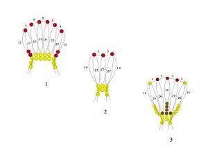 Схема для плетіння братків з бісеру