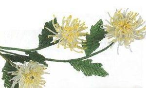 Майстер-клас плетіння хризантеми з бісеру