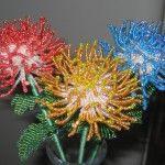 Голчаста техніка плетіння хризантеми