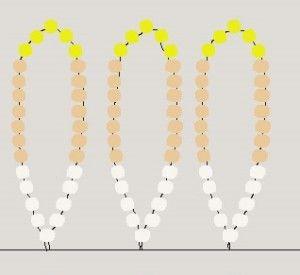 Схема Плетньов квітки хризантеми з бісеру