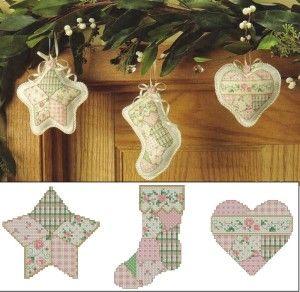 Вишивка в стилі Прованс на Різдвяних виробах