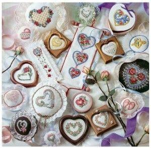 Ніжні серця з квітами в стилі Прованс