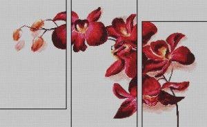 Схема для вишивки хрестиком триптиха