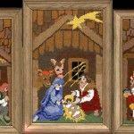 Триптих вишивка хрестом