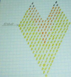 Схема цегляного плетіння лілії з бісеру