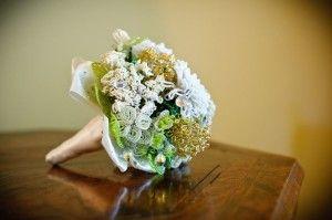 Весільний букет з бісеру