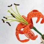 Майстер-клас плетіння тигровій лілії з бісеру