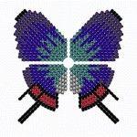 Плетемо метелика за схемою