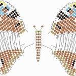 Складання деталей метелики з бісеру