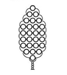 Схема плетіння листочків з бісеру