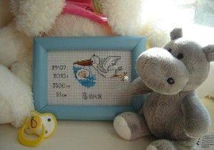Вишивка хрестиком метрика новонародженого