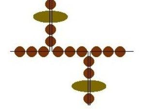 Схема обшивки Лариат з бісеру