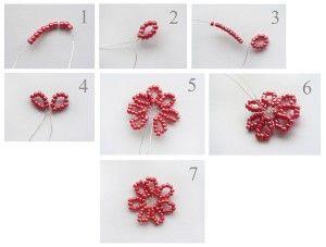 Плетемо квіти для Лариат з бісеру