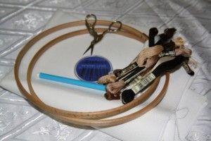 Готуємо інструменти для вишивки хрестиком