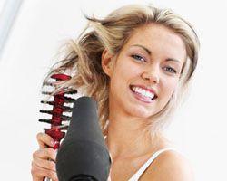 укладка волосся феном
