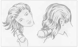 укладка волосся за допомогою насадки-диффузер