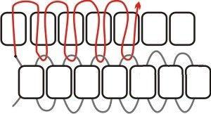 Схема цегляного плетіння бісером