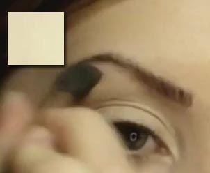 денний макіяж: нанесення тіней під брову