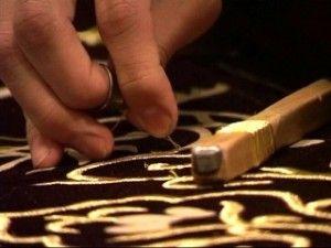 Техніка вишивки золотими нитками
