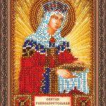 Ікона Святої Єлени в техніці вишивання бісером