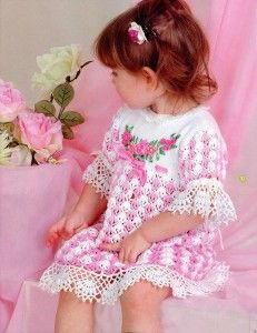 Ажурне дитяче плаття вишите стрічками