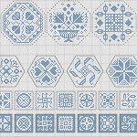 Багато схем для вишивки квакер