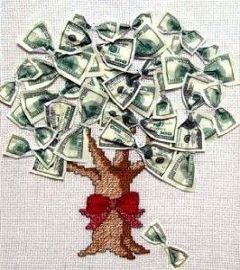 Вишите грошове дерево символ багатства