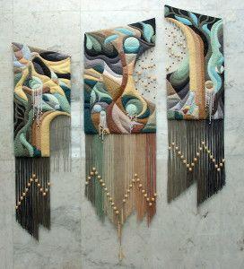 Об'ємна вишивка в килимовій техніці